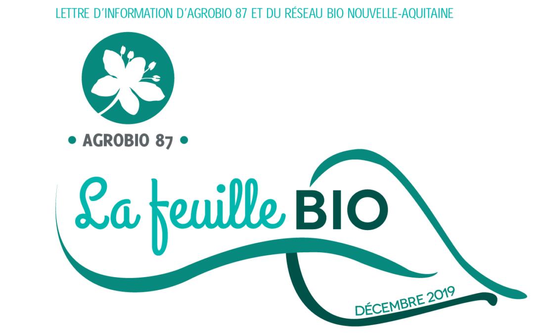 Lettre d'information d'Agrobio 87 et du réseau bio Nouvelle-Aquitaine
